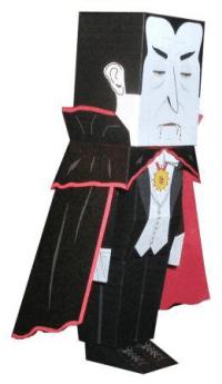 Hako Dracula Paper Toy